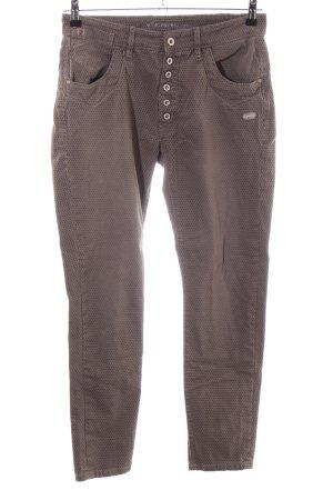 Gang Five-Pocket-Hose bronzefarben Allover-Druck Casual-Look