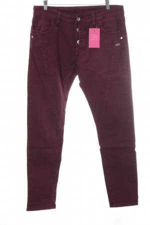 Gang Hoge taille jeans bordeaux casual uitstraling