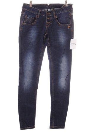 Gang Hüftjeans dunkelblau Jeans-Optik