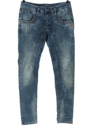 gang jeans Jeansy rurki niebieski Nadruk z motywem W stylu casual
