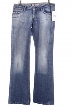 Gang Jeansschlaghose blau Casual-Look