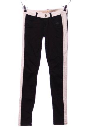 Gang Drainpipe Trousers black-cream striped pattern casual look