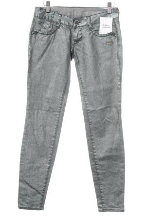 Gang Jeans skinny verde chiaro-verde-grigio stile stravagante