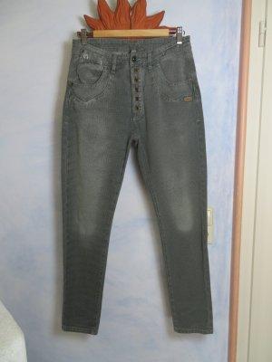 Gang Slouchy Grün High Waist Jeans Rose deep crotch - W 29 - Geknöpft Grob Gewebt