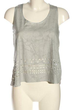 Gang Top di merletto grigio chiaro motivo astratto stile casual
