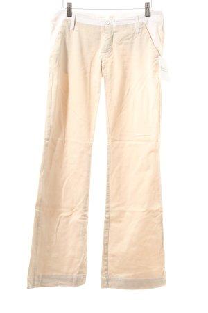 Gang Stoffhose beige-weiß Street-Fashion-Look