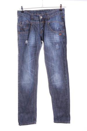 Gang Straight-Leg Jeans blau Casual-Look