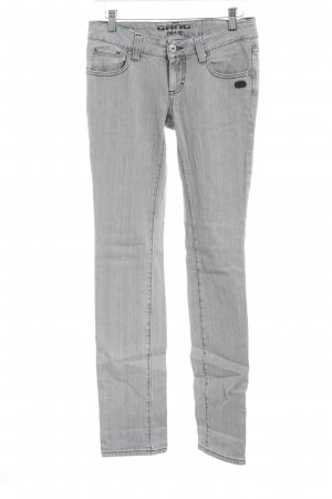 Gang Straight-Leg Jeans hellgrau Casual-Look