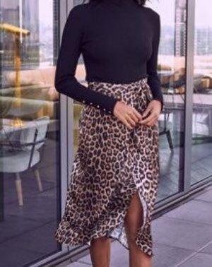 Ganni Flounce Skirt black-gold-colored
