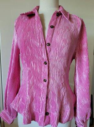 Ganni Camicetta a maniche lunghe rosa-rosa chiaro Poliestere