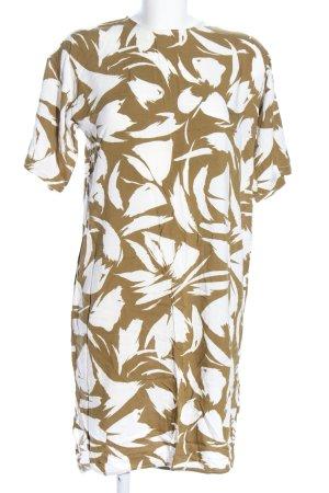 Ganni Blusenkleid braun-weiß abstraktes Muster Casual-Look