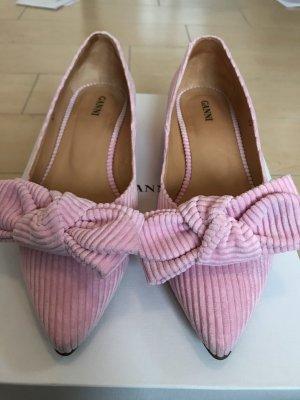 Ganni Cord Ballerinas Rosa Pumps Gr 37 S0656 512 Sea Pink wie NEU