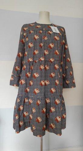 Ganni Sukienka z falbanami Wielokolorowy