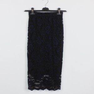 Ganni Jupe taille haute noir-bleu foncé