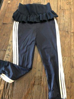 Ganni Pantalon de jogging blanc-bleu