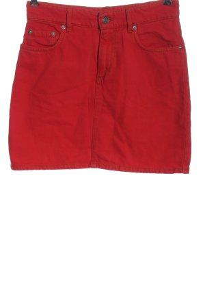 Ganni Gonna di jeans rosso stile casual