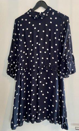 Ganni Kleid dunkelblau/weiß