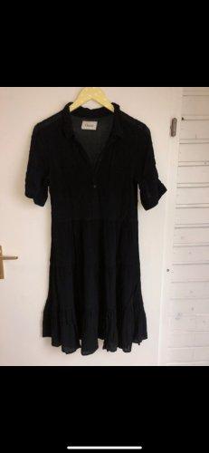 Ganni Koszulowa sukienka czarny Wiskoza