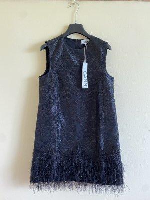 Ganni Kleid mit Kunstfederbesatz