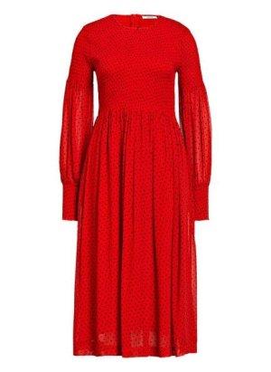 GANNI Kleid rot mit schwarzen Punkten Gr. 36