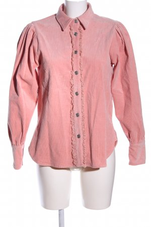 Ganni Langarmhemd pink Business-Look