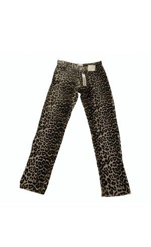 Ganni Jeans a gamba dritta multicolore