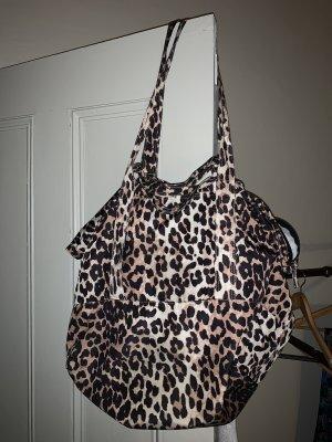Ganni Leopard Tote Leo Shopper Tasche