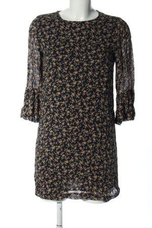 Ganni Blusenkleid schwarz-braun Blumenmuster Casual-Look