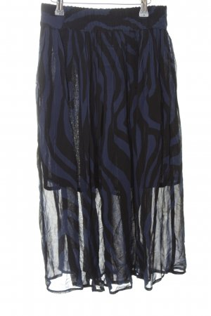 Ganni Midirock schwarz-dunkelblau Streifenmuster Casual-Look