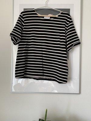 Ganni T-shirt bianco-nero