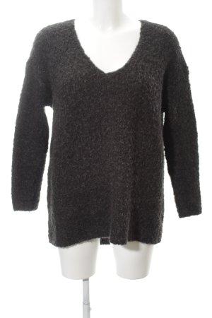 Ganni Oversized Pullover anthrazit-grau meliert Casual-Look