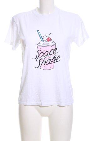 Ganni Print-Shirt weiß-pink Motivdruck Casual-Look