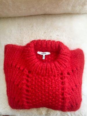 Ganni Maglione lavorato a maglia rosso Mohair