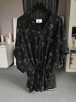 Ganni Tunic Blouse black-dark green