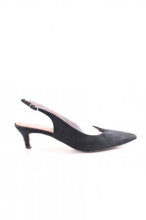 Ganni Slingback-Pumps schwarz Casual-Look