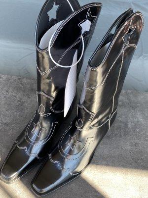 Ganni Western Boots black