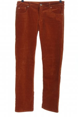 Ganni Jersey Pants brown striped pattern casual look
