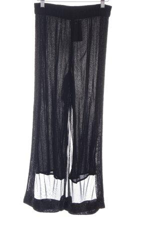 Ganni Stoffhose schwarz Elegant