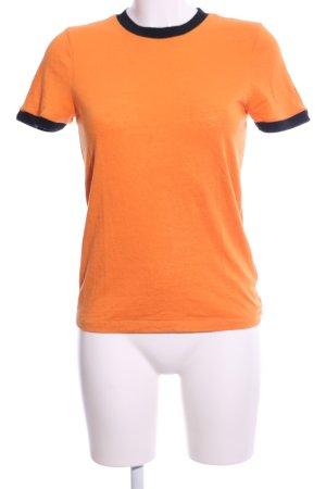 Ganni T-Shirt hellorange-schwarz Casual-Look