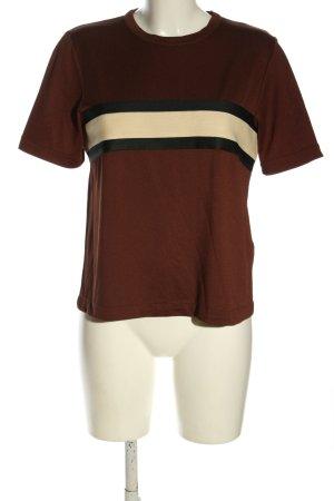 Ganni T-Shirt Streifenmuster Casual-Look