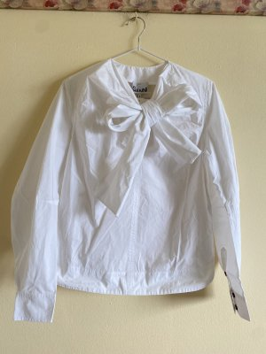 Ganni Long Sleeve Shirt white