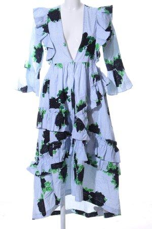 Ganni Flounce Dress flower pattern casual look