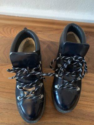 Ganni Futrzane buty czarny