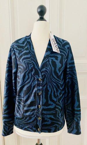 Ganni Giacca in maglia blu
