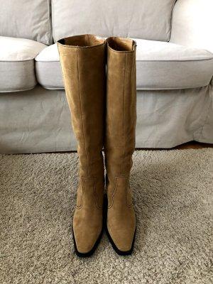 Ganni Snow Boots camel