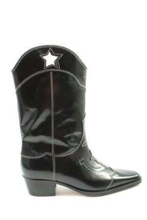 Ganni Western Boots black elegant