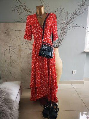 Ganni Robe portefeuille rouge