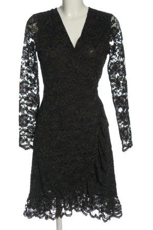 Ganni Robe portefeuille noir élégant