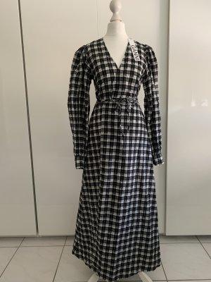 Ganni Maxi abito nero-bianco