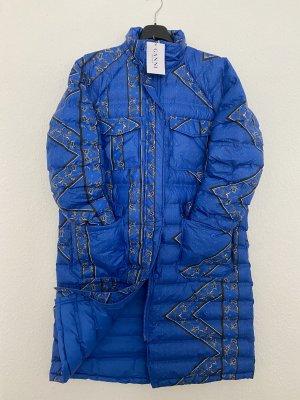 Ganni Winter Coat blue-steel blue mixture fibre